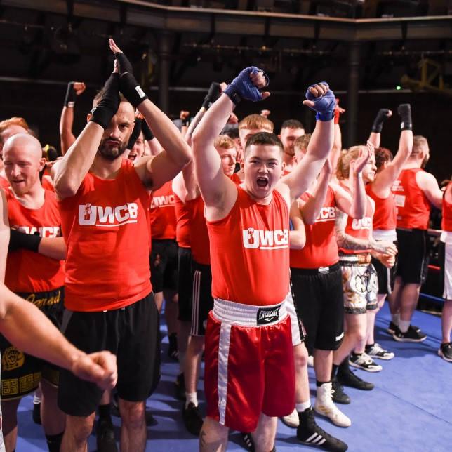 UWCB participants cheering